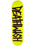 Deathwish Deathspray Yellow/Black Deck  8.125 x 31.5