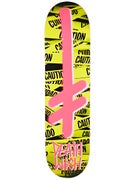 Deathwish Gang Logo Caution Deck  8.0 x 31.5
