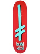 Deathwish Gang Logo Red/Teal Deck  8.3875 x 31.75