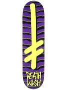 Deathwish Gang Logo Strips Purple/Yellow Deck  7.75x31