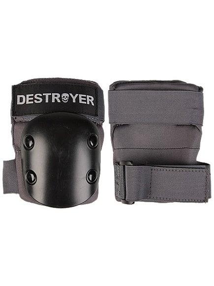 Destroyer Recreational Elbow Pads  Grey/Black