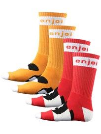 Enjoi Mixed Panda Feet Crew Sock