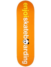 Enjoi No Brainer v2 Orange Deck  8.25 x 31.7