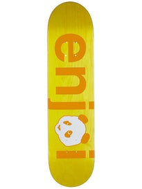 Enjoi No Brainer Sprayed Yellow Deck 7.75 x 31.2