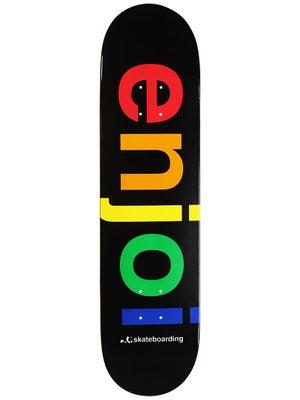 Enjoi Spectrum Black Deck  8.0 x 31.7