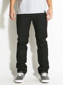 Element Desoto Slim Straight Jeans  Black Rinse