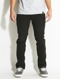Element Desoto Slim Straight Jeans Black Dark Worn