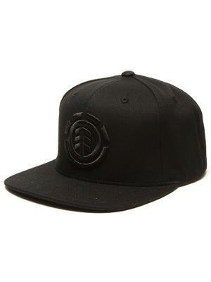 Element Knutsen Snapback Hat Black/Black