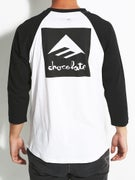Emerica x Chocolate 3/4 Sleeve Raglan T-Shirt
