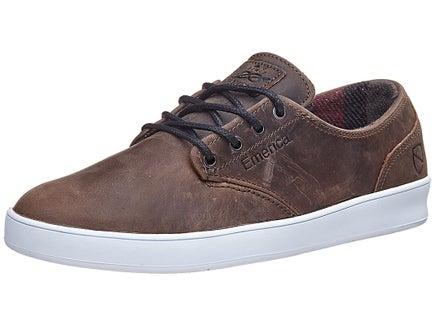 Emerica x Eswic Romero Laced Leather Shoes Brown