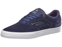 Emerica Reynolds Low Vulc Shoes Navy/White/Gold