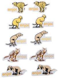 Enjoi Dog Pooper Stickers 10pk
