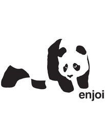 Enjoi Panda Vinyl Sticker Black/White