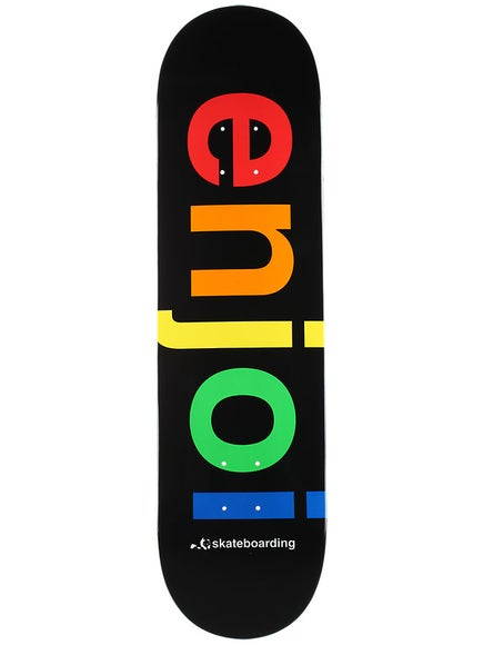 Enjoi Spectrum Black Deck  8.25 x 31.7
