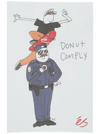 eS Henry Jones Donut Comply 4 Sticker