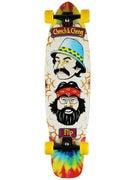 Flip Cheech & Chong Shred Sled Tie Dye Complete  9.3x36