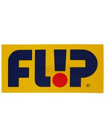 Flip Odyssey Logo 8 x 4 Sticker\  ellow