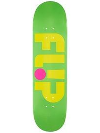 Flip Odyssey Logo Day Glo Green Deck  8.13 x 32