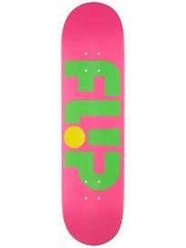 Flip Odyssey Logo Day Glo Pink Deck  8.0 x 31.5