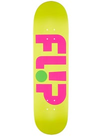 Flip Odyssey Logo Day Glo Yellow Deck  8.25 x 32.31