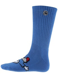 Foundation Whipper Mix Matched Crew Socks Red and Blue