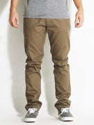 Fourstar Collective Straight Slim Chino Pants  Dk Khaki