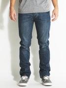 Fourstar Malto Straight Slim Jeans  Broken Indigo