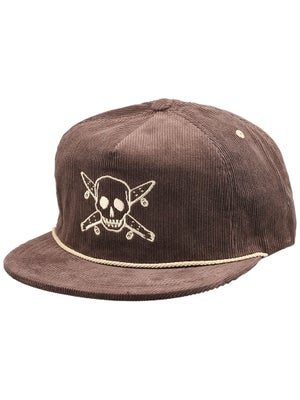 Fourstar Pirate Cord Trucker Hat Brown Adjust