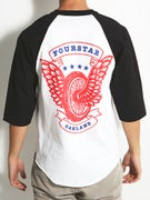 Fourstar Winged Wheel 3/4 Sleeve T-Shirt
