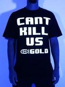 Gold Wheels 8 Bit Goon Glow In The Dark T-Shirt