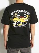 Gold Wheels Above T-Shirt