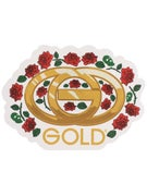 Gold Wheels Bouquet Sticker