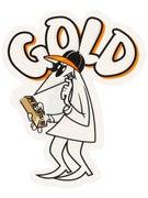 Gold Wheels Brick Spy Sticker