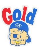 Gold Wheels Bazooka Sticker