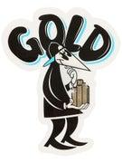 Gold Wheels Coin Spy Sticker