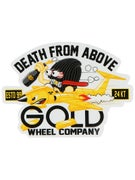 Gold Wheels Death From Above Sticker
