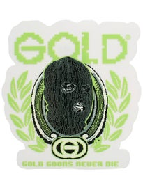 Gold Wheels Digital Die Sticker