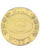 Gold Wheels Emblem Pin  Gold