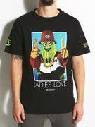 Gold Wheels Ladies T-Shirt