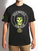 Gold Wheels Skull Club Glow in the Dark T-Shirt