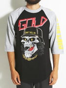 Gold Wheels Undead 3/4 Sleeve Raglan