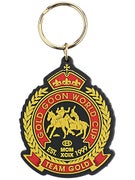 Gold Wheels World Cup Keychain  Black/Gold