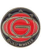 Gold Wheels Pin  Red
