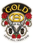 Gold Wheels Love All Sticker