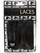 Globe Flat Shoe Laces  Black