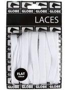 Globe Flat Shoe Laces  White