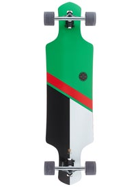 Globe Geminon Green/Red Longboard Complete 10 x 38.5