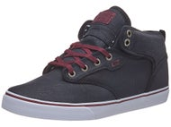 Globe Motley Mid Waxed Canvas Shoes Black/Burgundy