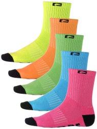 Globe Neon Crew Socks 5 Pk.