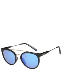 Glassy Chuck Sunglasses  Black/Blue Mirror